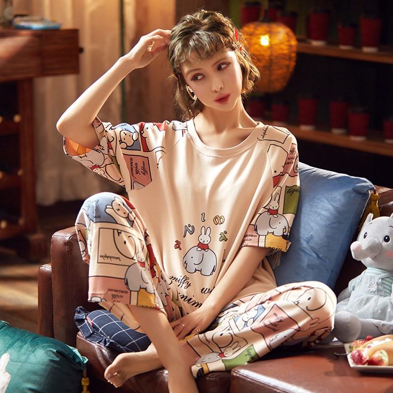 RiLa 미피위드에니멀 파자마파티 순면 잠옷세트