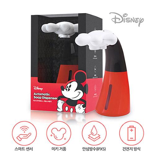 디즈니 미키마우스 자동 손세정기+전용 세정액 세트 디스펜서 욕실용품 거품비누 오토손세정제 미키거품 IPX5 방수설계, 미키마우스 디스펜서 + 세정액