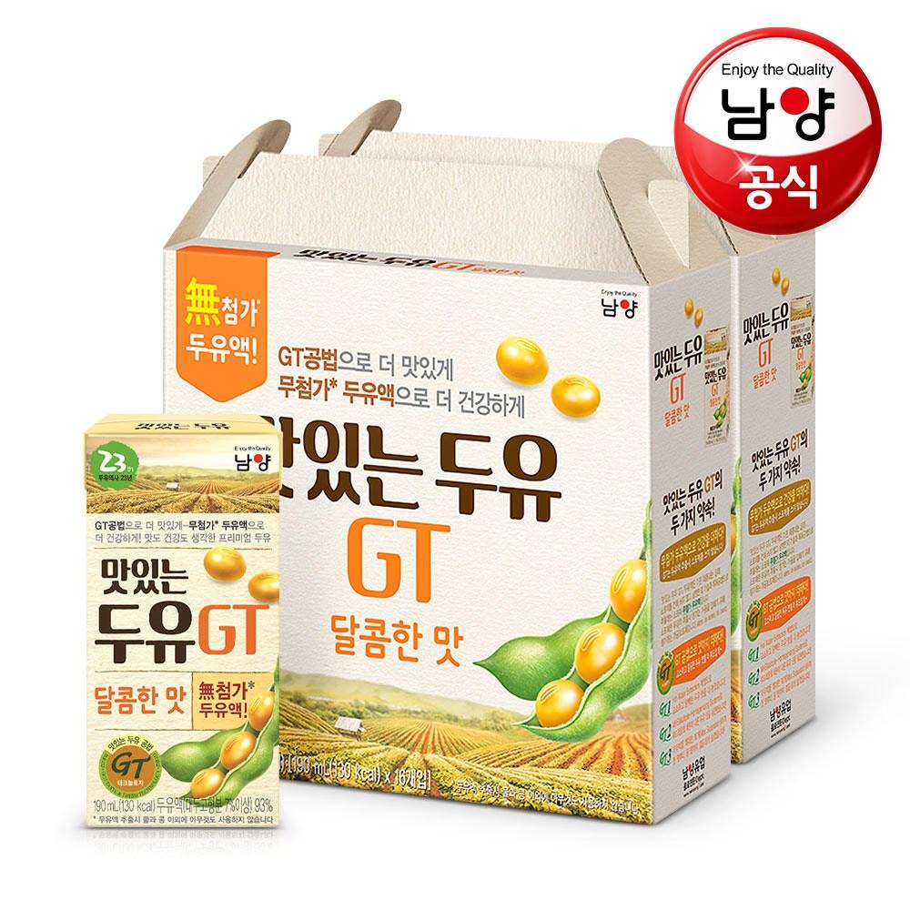 맛있는두유GT 달콤한 맛, 190ml, 32개