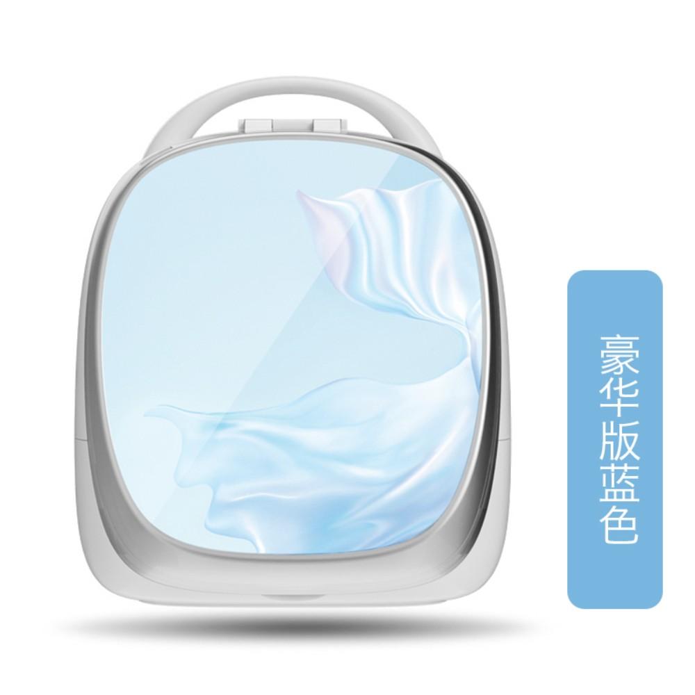 휴대용 스마트 화장대 화장품정리대 홈 탁상시계, 럭셔리 블루개