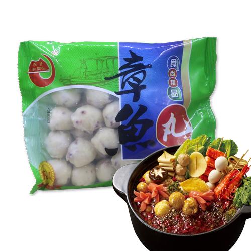 홍홍 중국식품 훠궈 마라탕사리 냉동 피쉬볼 문어볼 완자볼, 400g, 1개