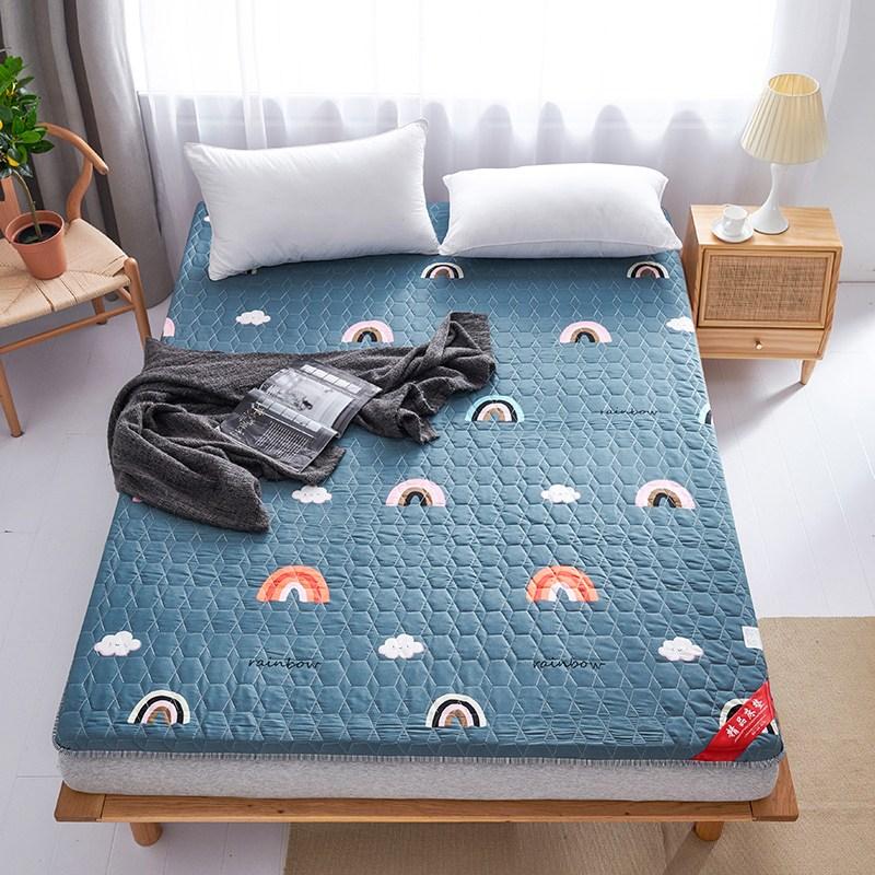 침대매트 두께추가침대 푹신매트 매트단단한 매트침대 학생 기숙사 싱글 전세 전용 바닥, C04-150*200cm친피부 침대매트