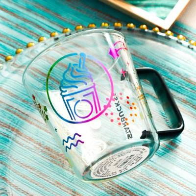 KJ_105 스타벅스 투명 소프트콘 머그 컵 잔, 단일