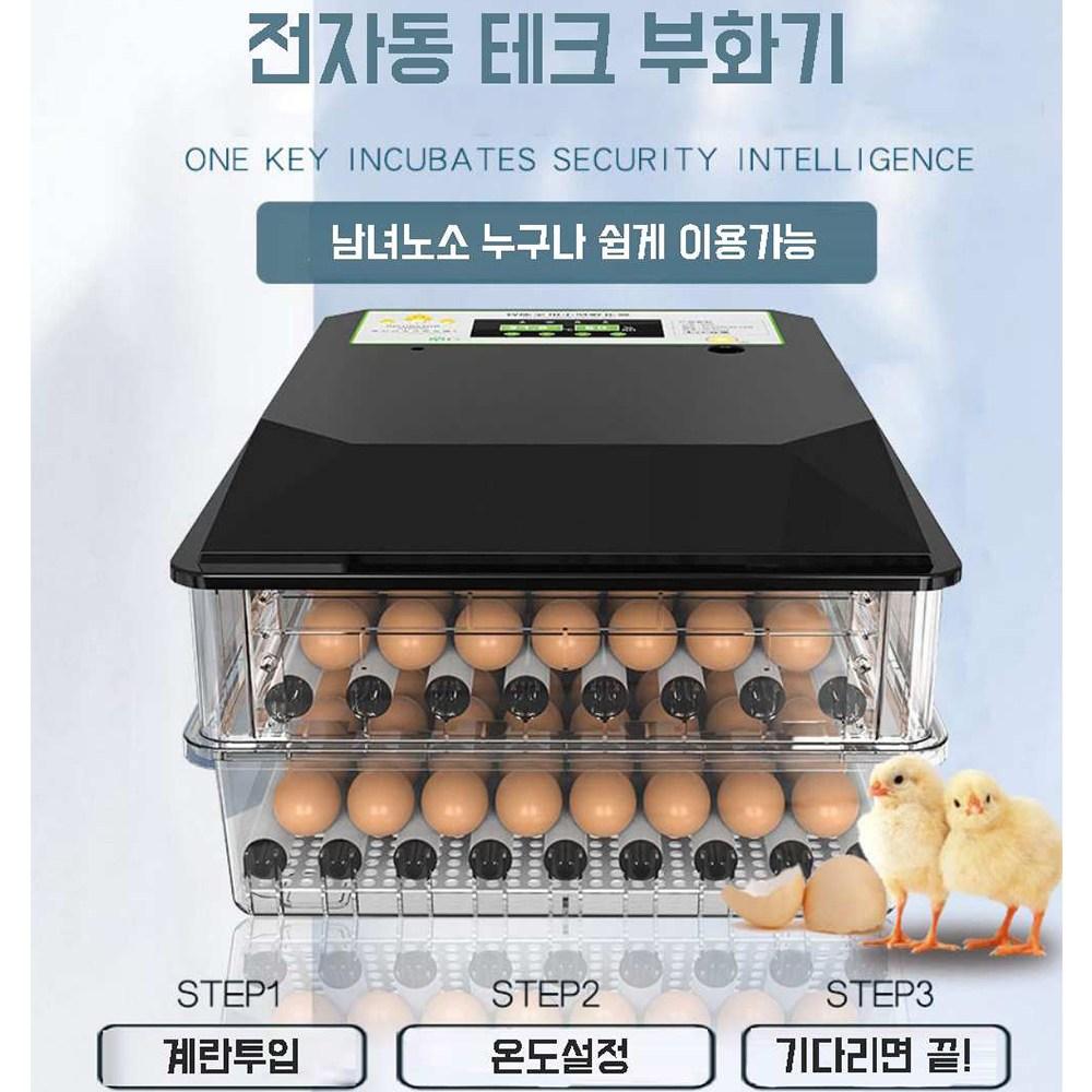 병아리 계란 닭 유정란 가정용 자동 부화기, 36란, 일중전원