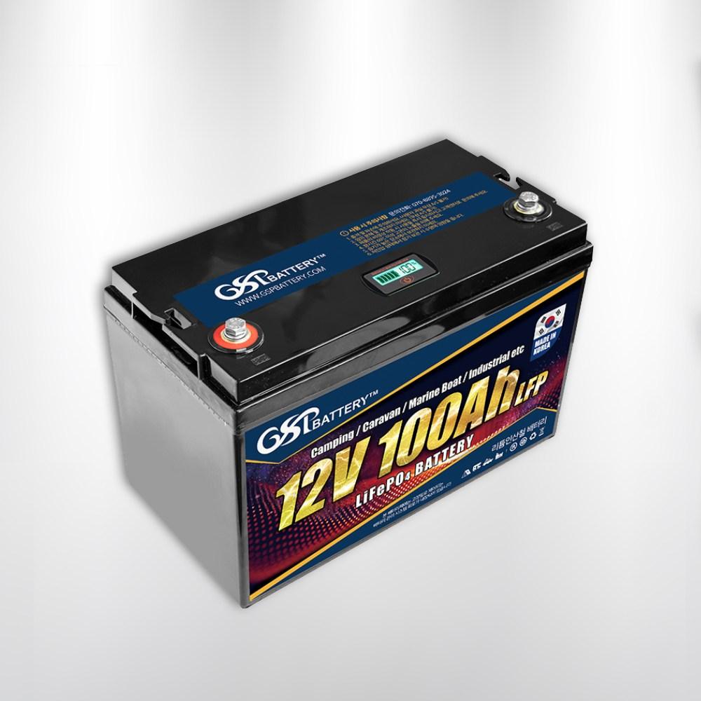 [국내제조]지에스피 리튬인산철 캠핑용 카라반 산업용 배터리 GSP-LFP-12V100A (POP 5340198946)