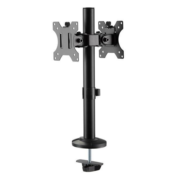 엔산마운트 LDT-G02 양면1단 모니터 암 거치대 브라켓 홀 플랜지용 15-32인치 모니터암-모니터 스탠드, 선택없음