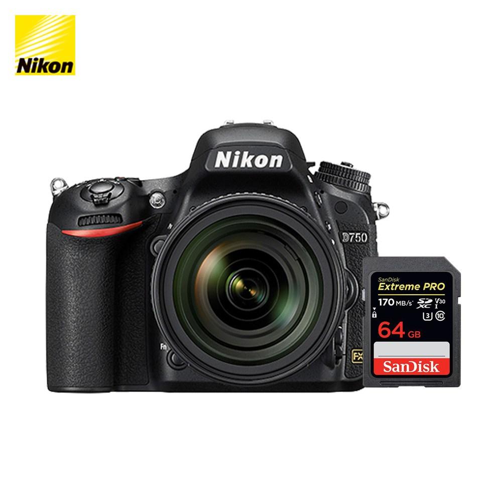 니콘 D750 DSLR, 니콘 D750 + SD 64G