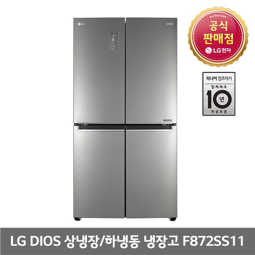 LG 디오스 870L 4도어 냉장고 F872SS11 전국무료배송
