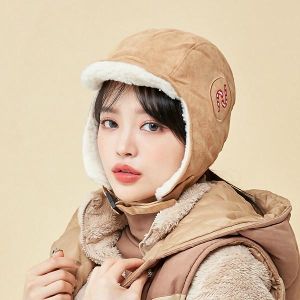 멜라크메 남자 여자 귀돌이 귀달이 캐주얼 양털 항공 모자 방한모 털모자