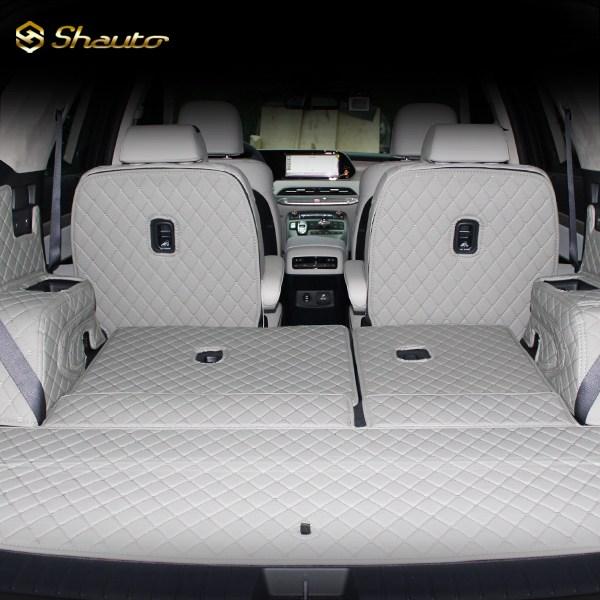샤오토 쏘렌토MQ4 트렁크매트 풀커버세트, 7인승/스피커 유/블랙x블랙