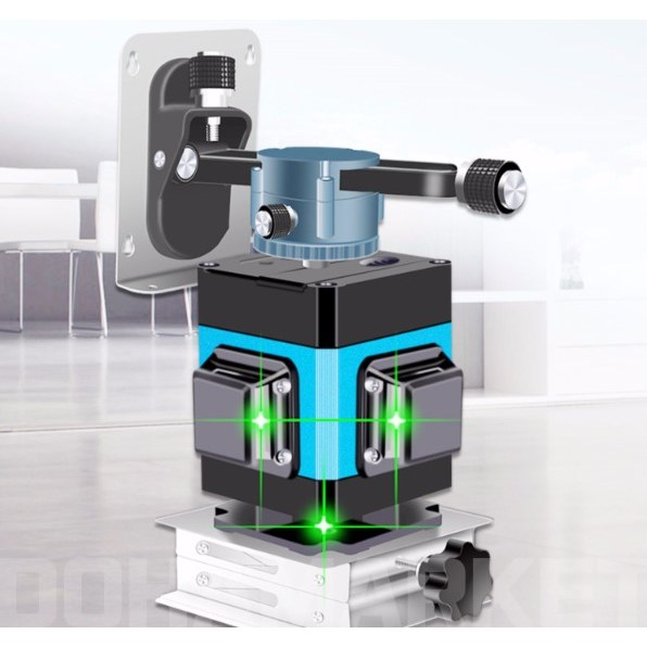 도하마켓 타일 3D 레이저 레벨기 360도 8라인 12라인 16라인 타일바닥 무선조종, 8라인 기본구성