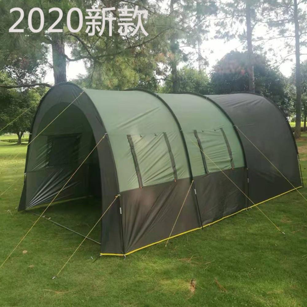 [항공배송] 대형 터널 텐트 10인 방수 바베큐장 온가족 캠핑 여행 텐트 용품, 업그레이드 된 텐트