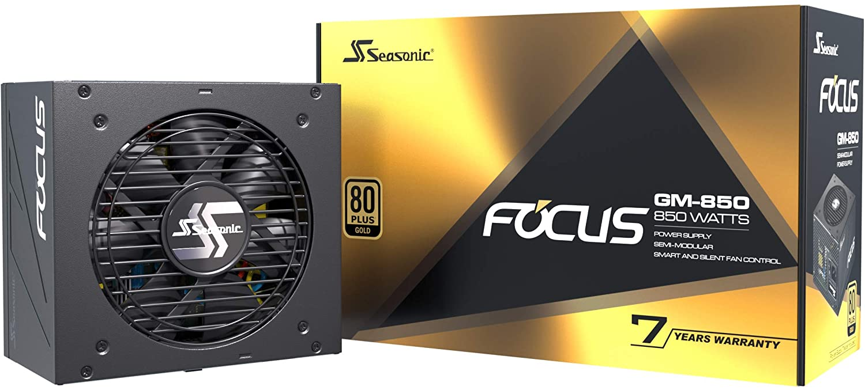 (관부가세별도) Seasonic Focus GM-850 850W 80+ Gold Semi-Modular Fits All ATX Systems Fan Control in Silent and Cooli-B084TSBB2R, one color / one size