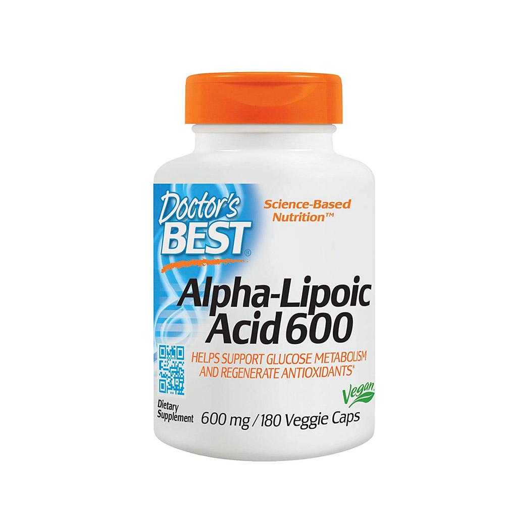 Doctors Best 알파리포산 600mg 180캡슐, 단품