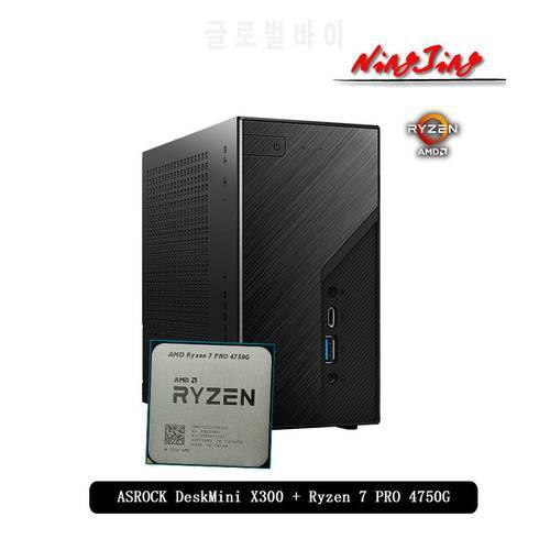 ASROCK DeskMini X300 케이스 및 마더 보드 + Ryzen 7 PRO 4750G R7 PRO 475, 상세내용참조