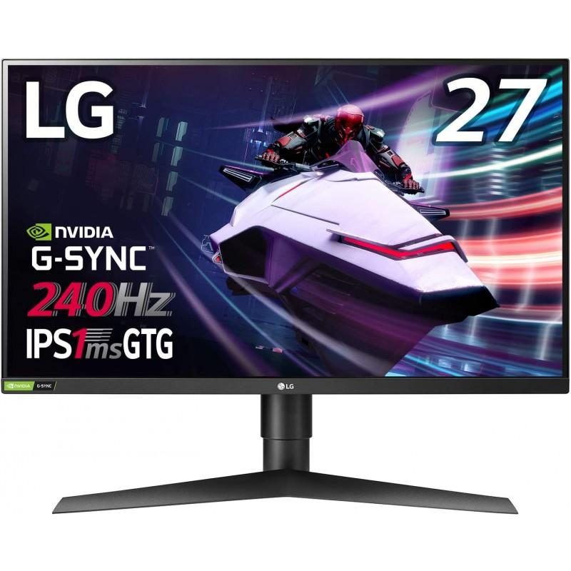 일본배송 Amazon LG게이밍 모니터 UltraGear 27GN750-B 27인치/ 풀 HD/IPS/240Hz/1ms(GtoG)/G-SYNC Compa, 단일옵션, 단일옵션