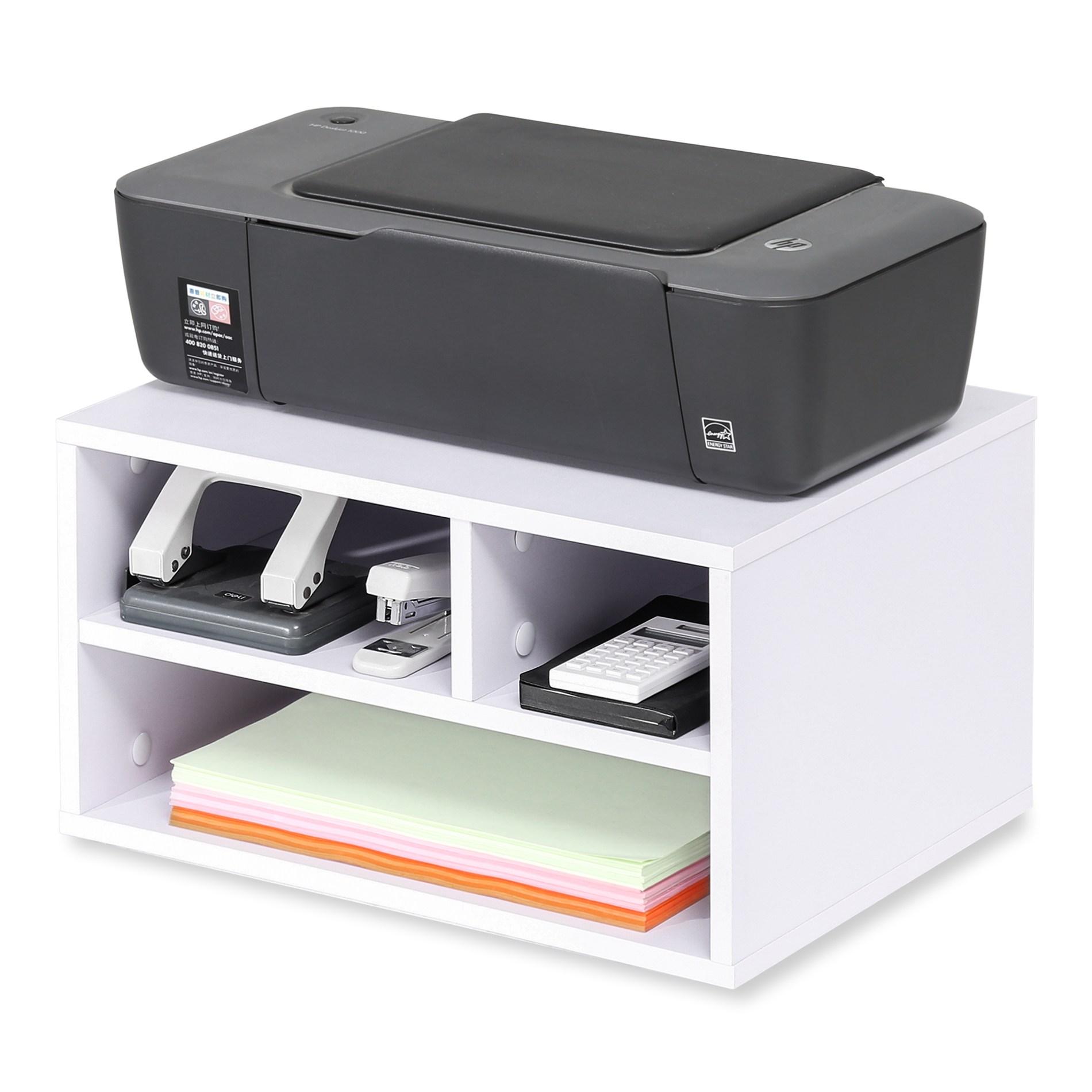 FITUEYES 프린터선반 프린터받침 프린터스탠드, 흰색 DO304005WW