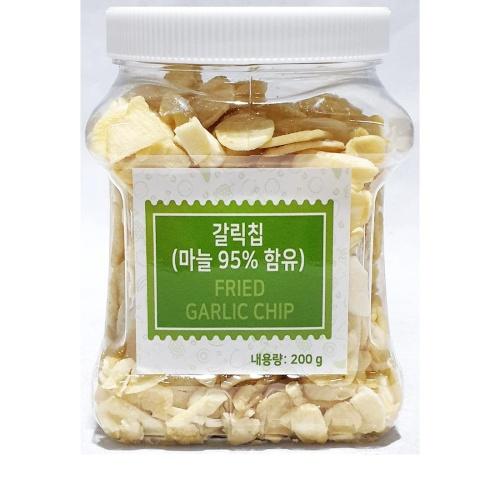 [더착한푸드]갈릭칩(푸드야 200g) 식자재마트 대용량 업소용 마늘튀김 마늘과자안주 푸드야갈릭칩