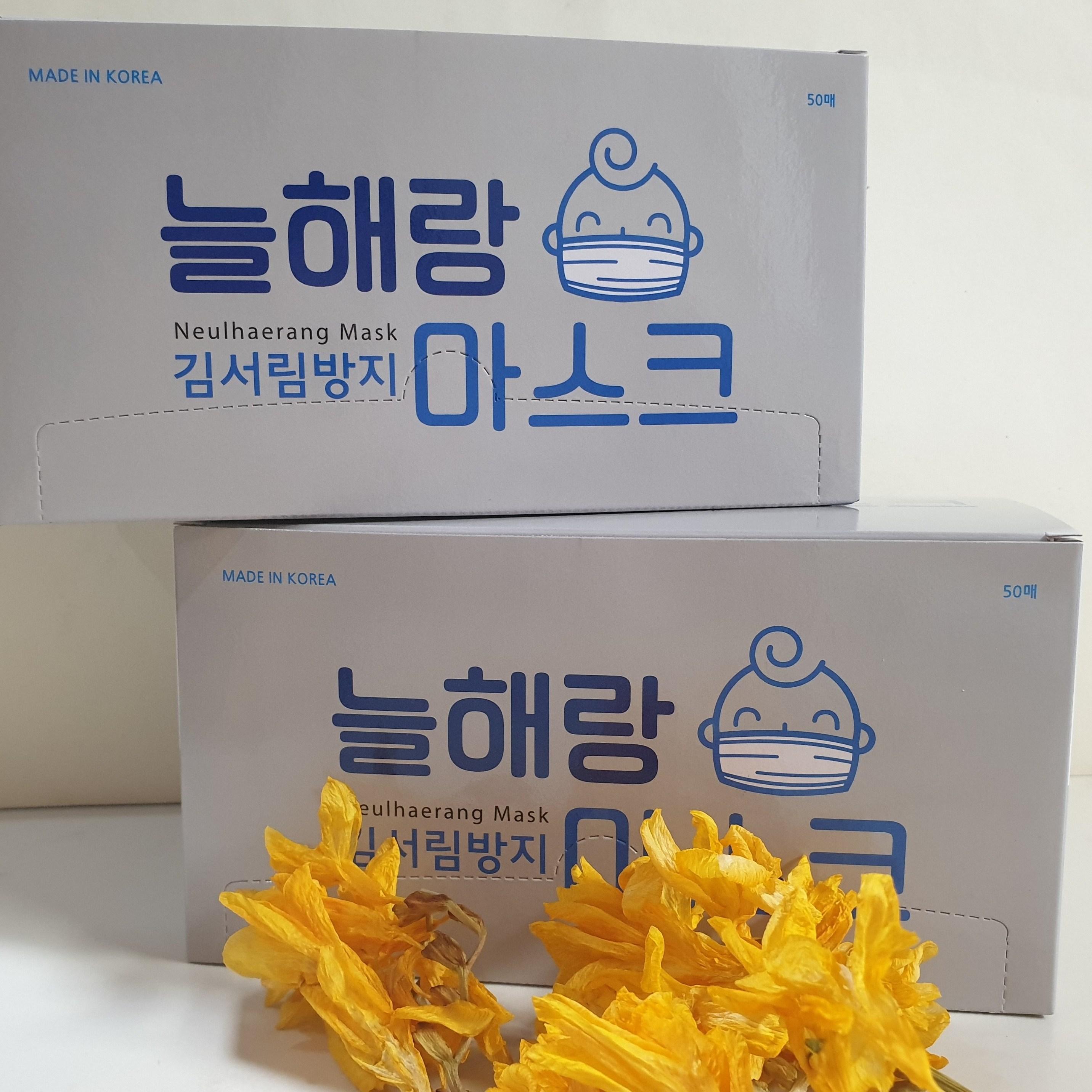 늘해랑 국산늘해랑MB필터 일회용마스크, 2box, 50매