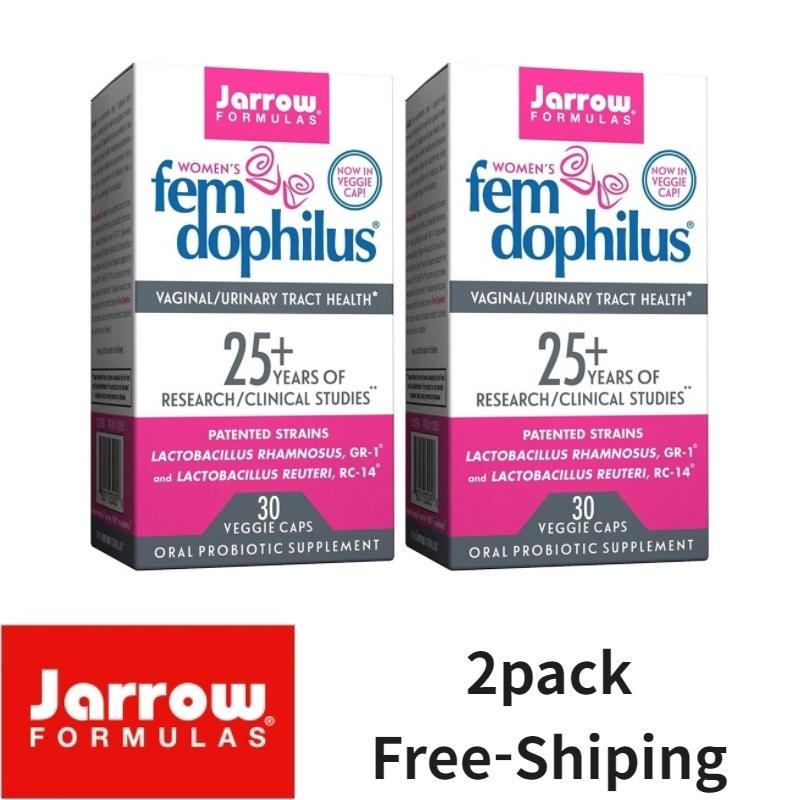 Jarrow Fomulas 자로우 펨 도피러스 여성 유산균 50억 냉장 보관 30야채캡슐, 2개, 30개입