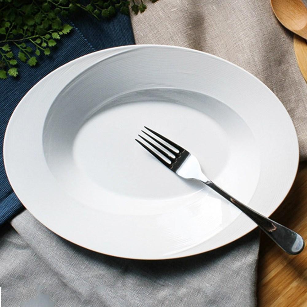로얄본 타원림스 수입그릇 식빵접시 레트로그릇 명품그릇