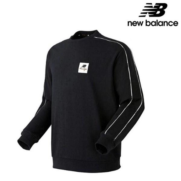 뉴발란스 UNI N 트랙 공용 맨투맨 긴팔티 티셔츠 NBNC934013 BK