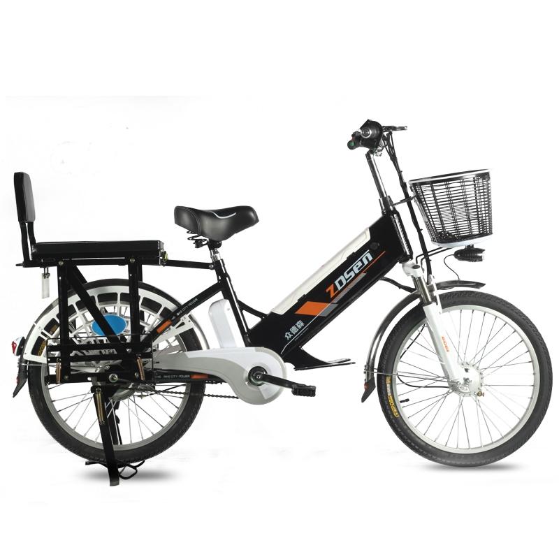 전기자전거 Zhongdesen 자전거 리튬 배터리 48V 대형 선반 22 인치 자전거 온보드 무거운 보조 자동차 테이크 아웃 자동차 접이식 전기자전거, 22 인치 60V12A 50km 배터리 분리형 도 (POP 5428803160)