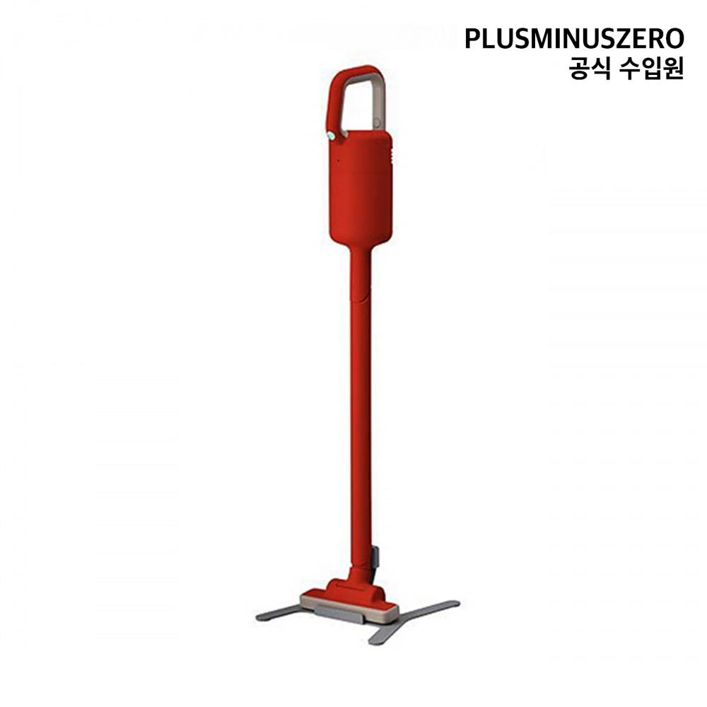 플러스마이너스제로 +-0 무선 청소기 Y010 (국내 정식 수입) 스틱청소기, Matt 레드