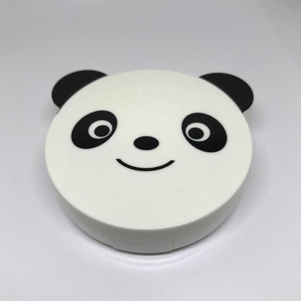오렌즈 케이스 아큐브 컬러 거울달린 콘택 하드 캐릭터 소프트렌즈 세트 팬더 !Izus, 1개