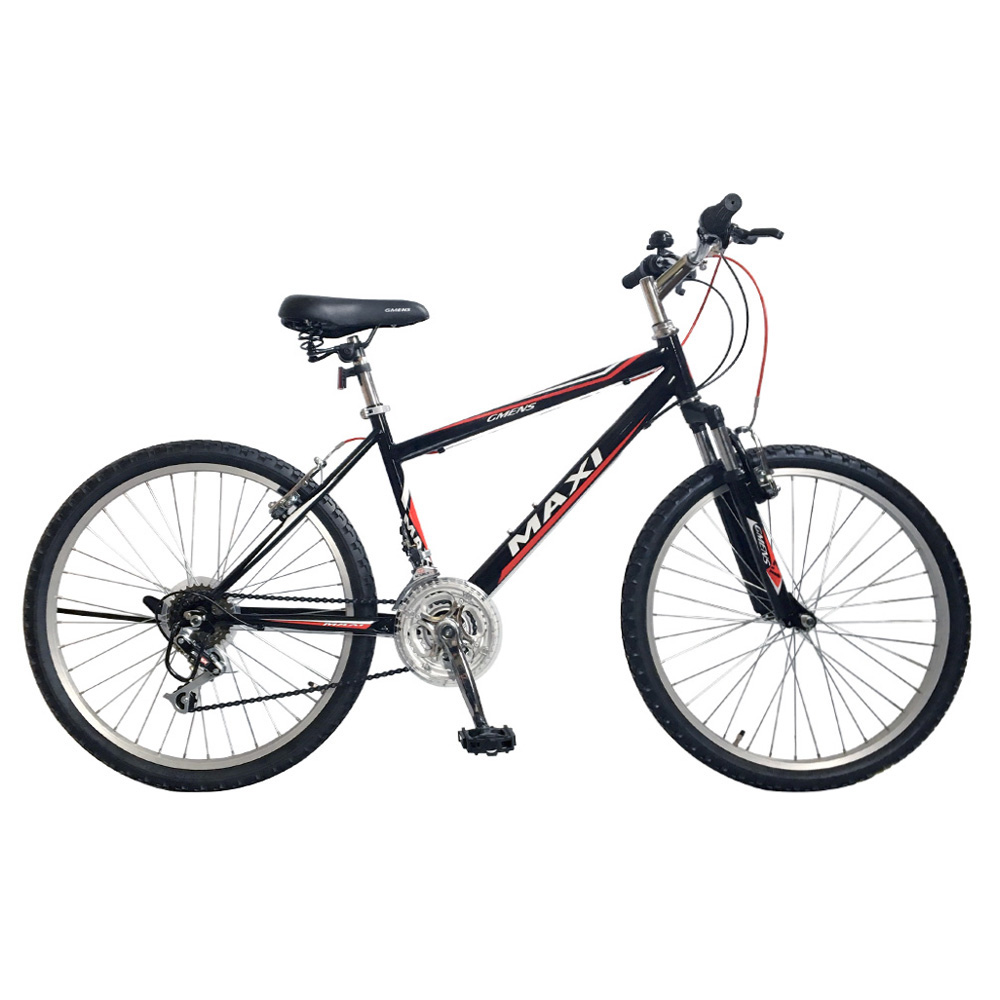 지멘스 맥시SF 24인치 26인치 학생용 21단 앞쇼바 출퇴근용 MTB 자전거, 165cm, 맥시SF(24인치)_블랙/레드