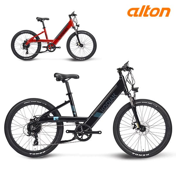 전기 자전거 2020 알톤 코디악 24S 파스 스로틀 8단, 24 블랙 (파스+스로틀)