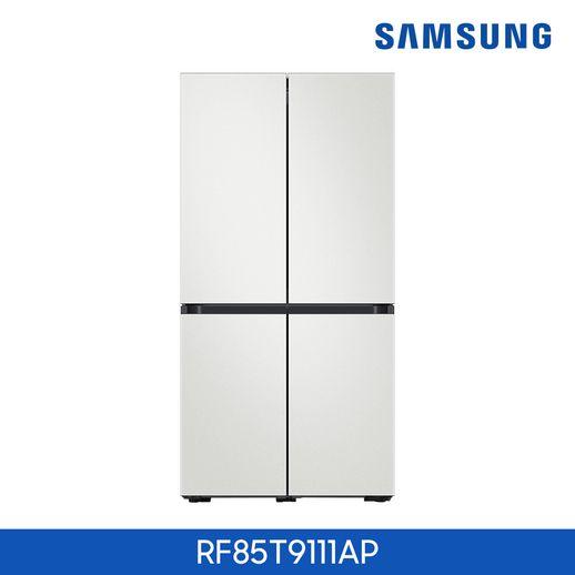 1등급 삼성 BESPOKE 냉장고 4도어(RF85T9111AP)+공기청정기+삼성청소기, 화이트