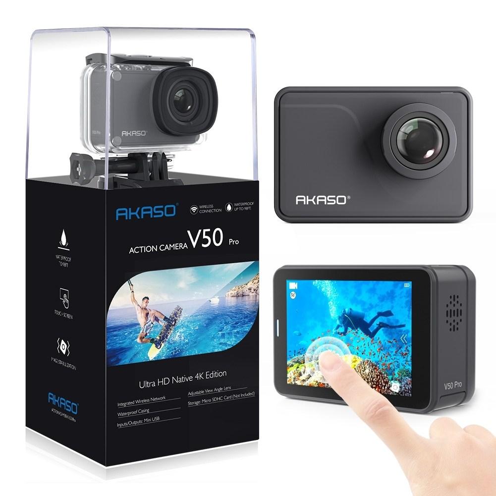 아카소 V50 EK7000 pro 4K Wifi 터치스크린 방수 액션캠, V50 PRO