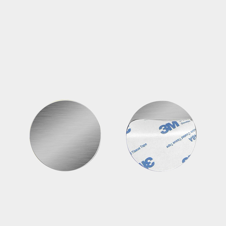 [올리보] 휴대폰 마그네틱 자석 거치대 스틸 메탈 플레이트 0.4mm, 03원형실버, 1개