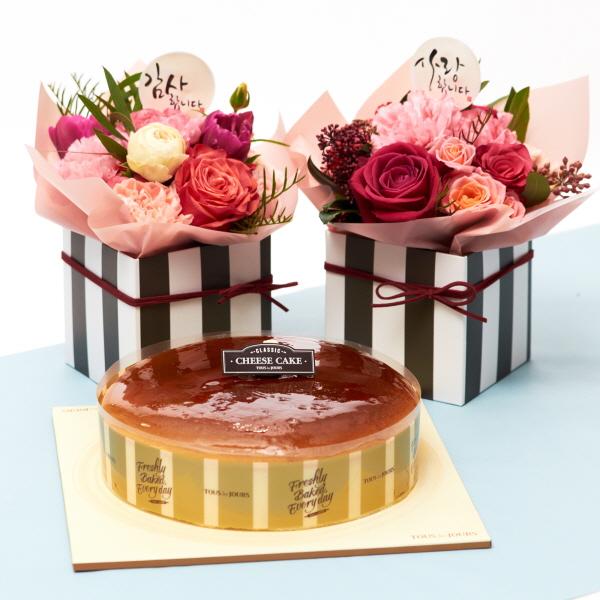 뚜레쥬르 치즈케익+카네이션 행복한마음세트 꽃배달 어버이날 선물