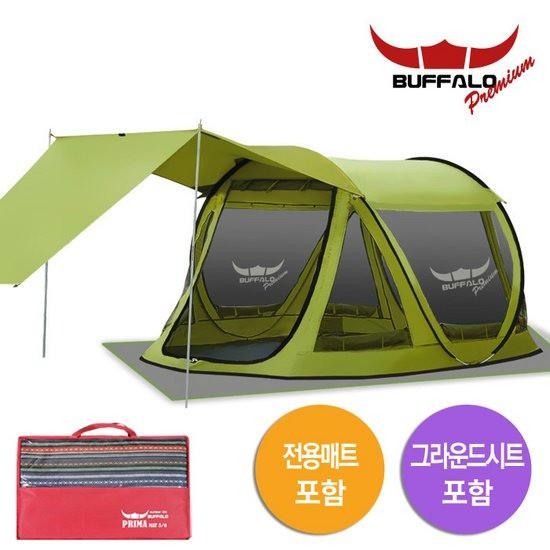 버팔로 프리미엄 뉴 프리마 원터치 팝업 텐트 시트 + 매트 5~6인용