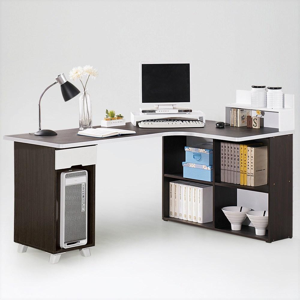 [위퍼니즈] 위니 코너책상 PC형 (상판1600mm), 월넛