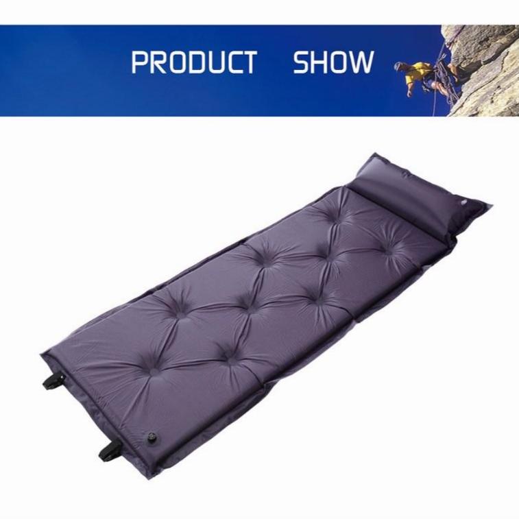 Deyim tech 캠핑 자동 충전 매트 1인용 사계절용 침낭, 블루