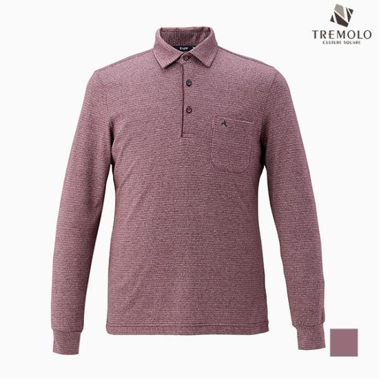 트레몰로 TREMOLO 남성 코튼혼방 솔리드 티셔츠_R6X1