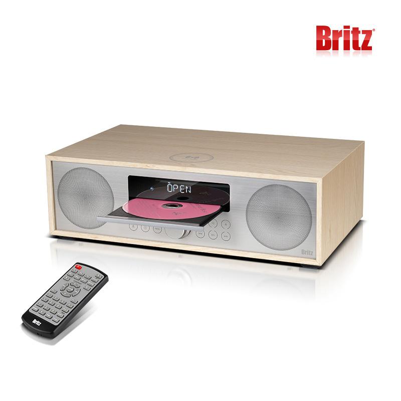 브리츠 BZ-T7500 WC 올인원 무선충전 CD플레이어 블루투스 오디오 스피커, 단일색상