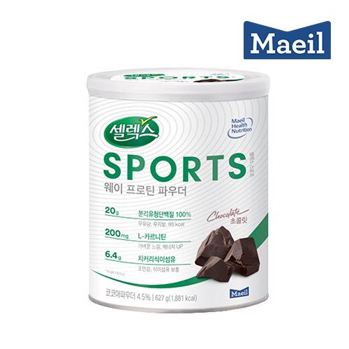 매일유업 셀렉스스포츠 웨이프로틴 초콜릿, 627g, 3통