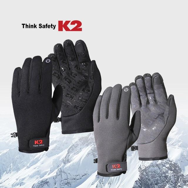 K2 이지웜 장갑 겨울장갑 방한용, 블랙
