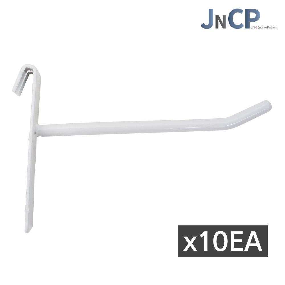 JNCP 휀스망 일선후크 10EA 후크 고리 악세사리 걸이 진열 메쉬망 네트망 철망, 1세트, 화이트(10cm)x10EA (POP 303736517)
