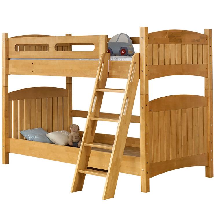 핀란디아 [대한민국 동행세일] 프리미엄 스마트 이층 침대 프레임, 라이트 브라운