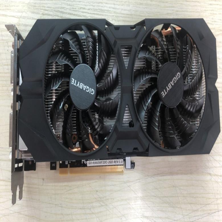 기가 바이트 그래픽 카드 원래 GTX 960 2GB 128 비트 GDDR5 비디오 카드 nVIDIA VGA 카드 Geforce Hdmi Dvi, 한개옵션
