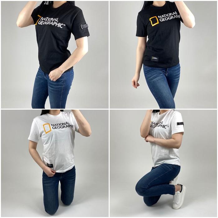 솔멀티 내셔널지오그래픽 네오디 빅로고 와펜 반팔티-남녀공용 반팔 티셔츠