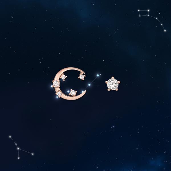 로이드 달 별자리 탄생석 귀걸이 10K 골드귀걸이