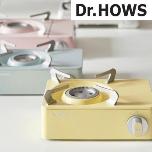 닥터하우스 휴대용 미니버너 가스 스토브 (바람막이용 케이스 포함), 레몬, 레몬