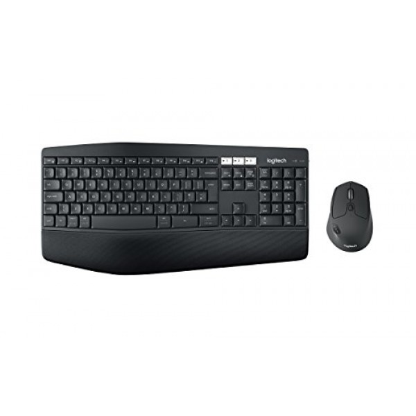 Logitech MK850 Performance 무선 키보드 및 마우스 세트 USB 수신기를 통한 Bluetooth 및 2.4GHz 연결 다, 단일상품, 단일상품