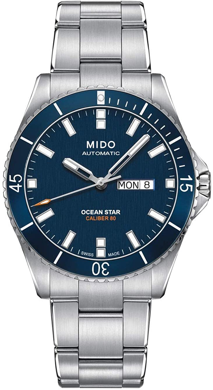 Mido Men's M026.430.11.041.00 Ocean Star Analog Automatic Blue / Silver Stainless Steel Watch-B01JMX5PNM